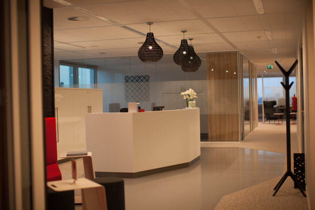 The services of the prestigious reception area in the TOO branch in Den Haag can be used by all co-workers.