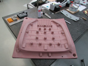 A foam mould for a seat upholstery pad