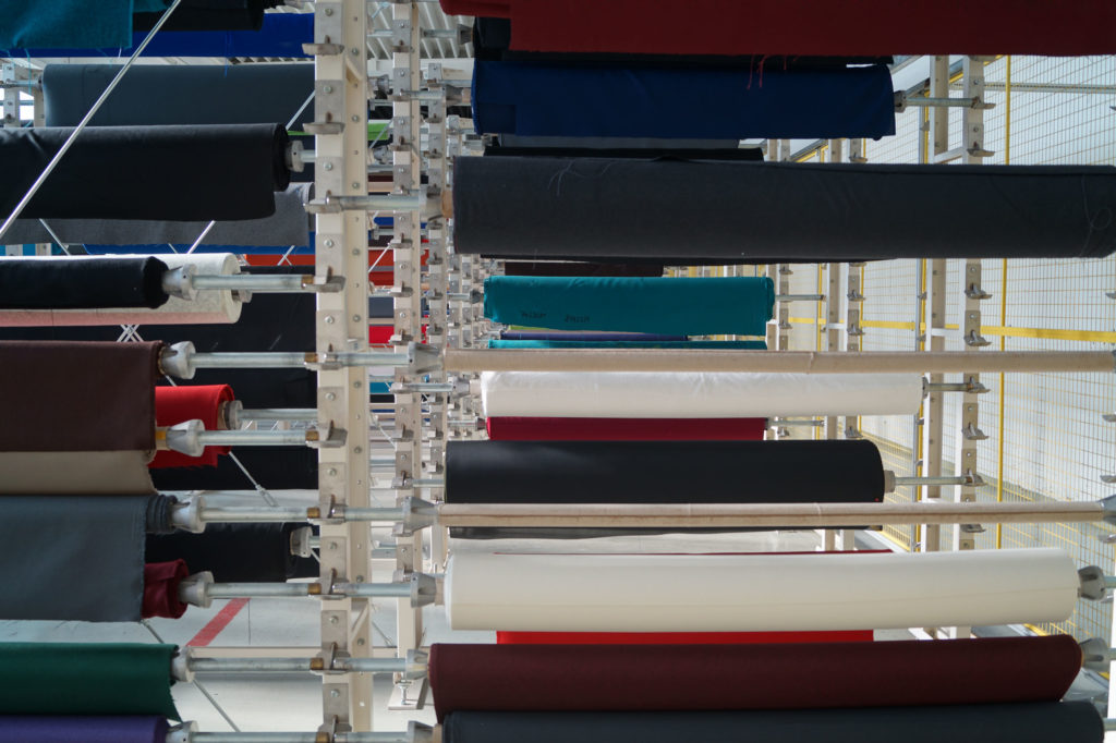 More than 100 different fabrics are in use at Klöber.