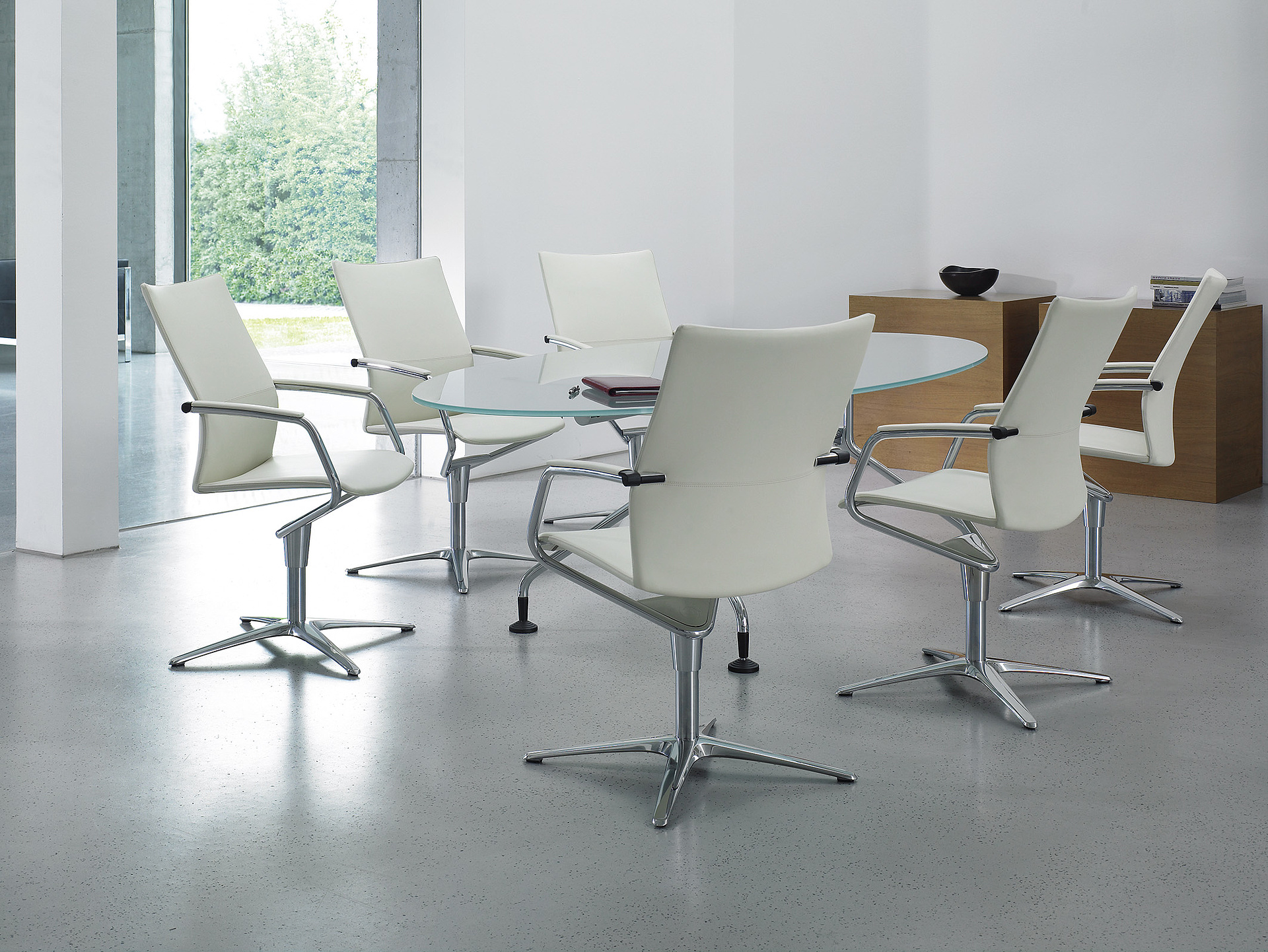 conference swivel chair conference room conference situation 4-star base design chrome