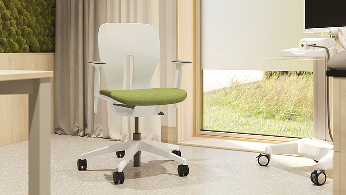 LIM: the health care chair. Hygienic and adaptable – the new-generation chair.